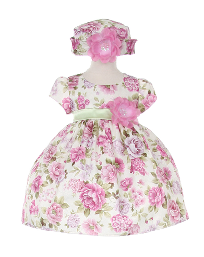 Cinderella Couture Baby-Girls Lavender Bouquet Flower Jacquard Dress & Hat at Sears.com