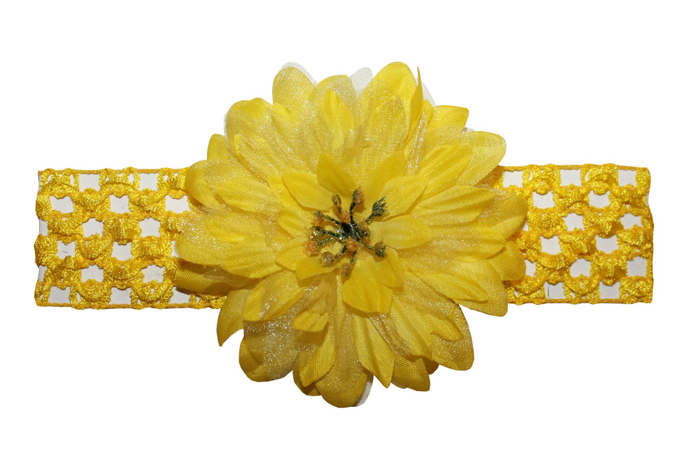 Webb Direct 2U Baby-Girls Chiffon Silk Flower Hair Bow Stretch Crochet Headband at Sears.com