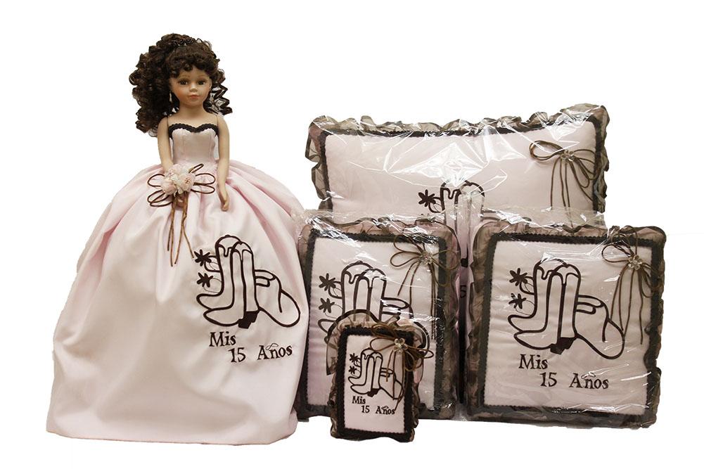 15 Anos Pillows: Quinceanera 5 Piece Set Mis 15 Anos Sweet 15 Album Doll Lg