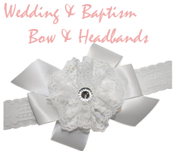 wedding baptism hair bows